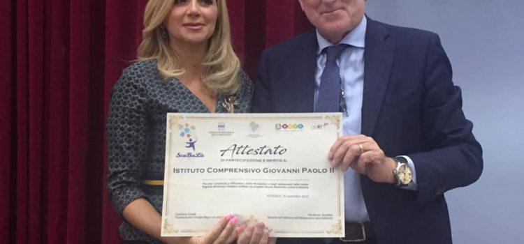 Cerimonia di premiazione del Progetto regionale SCUBALU