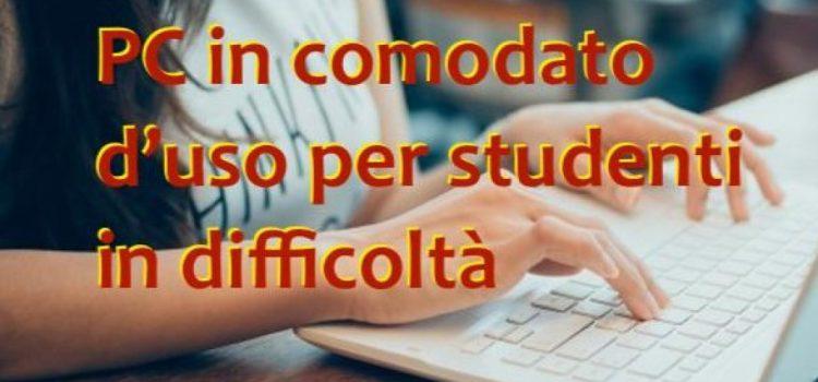 decreto pubblicazione + graduatoria PC in comodato d'uso